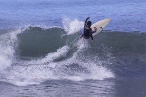 Surfing Gumicik Beach on our One Day Bali Surf Charters