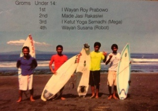 Roy wins Under 14's surf competition