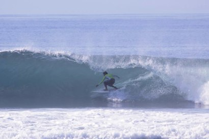 Catching barrels at Cucukan Beach, Bali