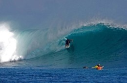 Massive barrels at desert point