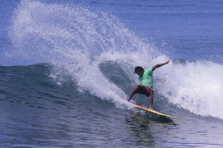 Cutting up at Keramas Beach, Bali